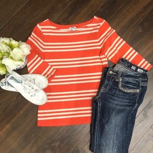 ❤️3 for $20- Old Navy Coral Knit Top- size Medium